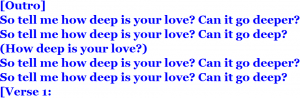 How Deep Is Your Love⑩